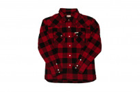 Flat Head Animal Face Winter Flannel - Black/Red Snap - Image 2