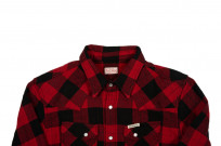 Flat Head Animal Face Winter Flannel - Black/Red Snap - Image 3