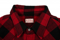 Flat Head Animal Face Winter Flannel - Black/Red Snap - Image 4
