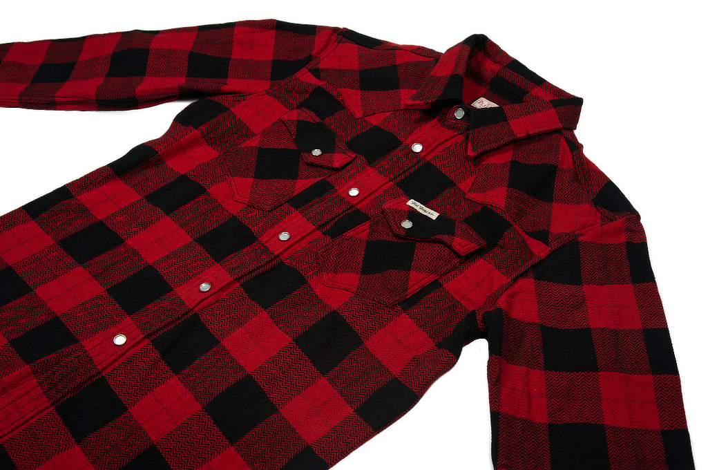 Flat Head Animal Face Winter Flannel - Black/Red Snap - Image 6