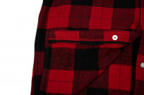 Flat Head Animal Face Winter Flannel - Black/Red Snap - Image 8