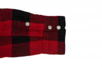 Flat Head Animal Face Winter Flannel - Black/Red Snap - Image 9