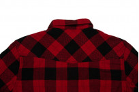 Flat Head Animal Face Winter Flannel - Black/Red Snap - Image 10