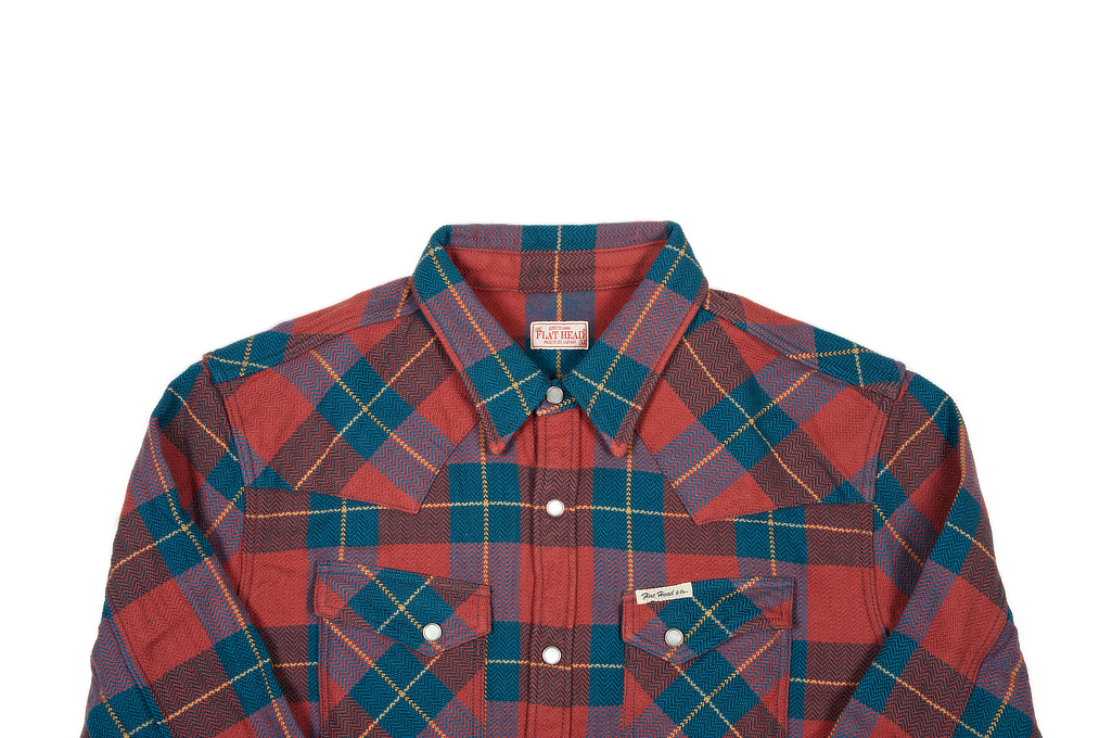Flat Head Animal Face Winter Flannel - Turquoise/Wine Snap - Image 3