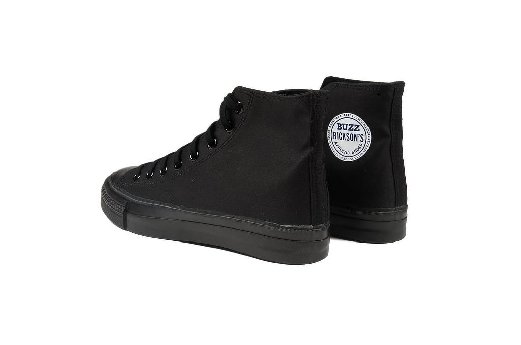 Buzz Rickson Ventile Water Resistant Sneakers - Black - Image 1