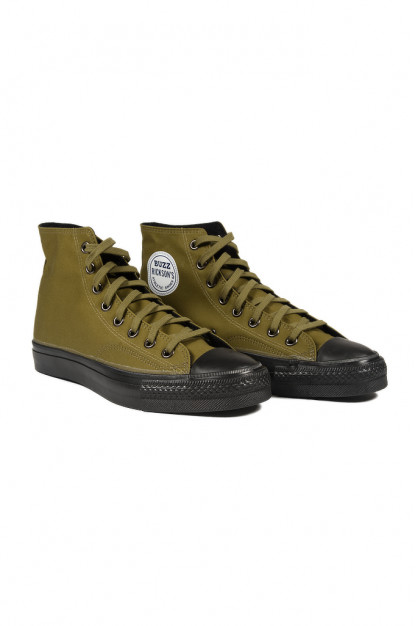 Buzz Rickson Ventile Water Resistant Sneakers - Olive