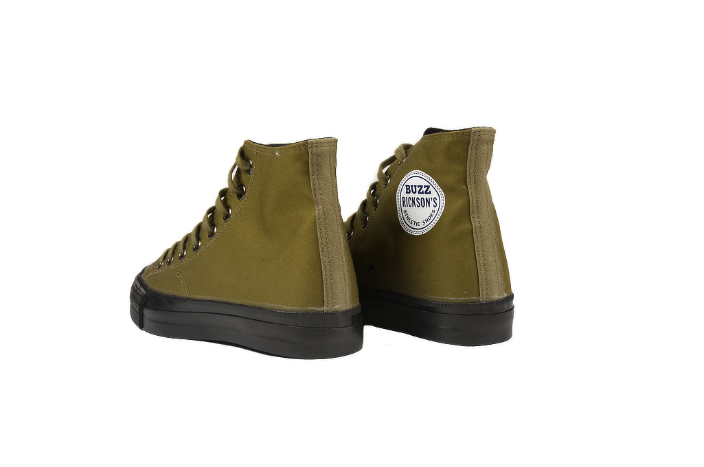 Buzz Rickson Ventile Water Resistant Sneakers - Olive - Image 3