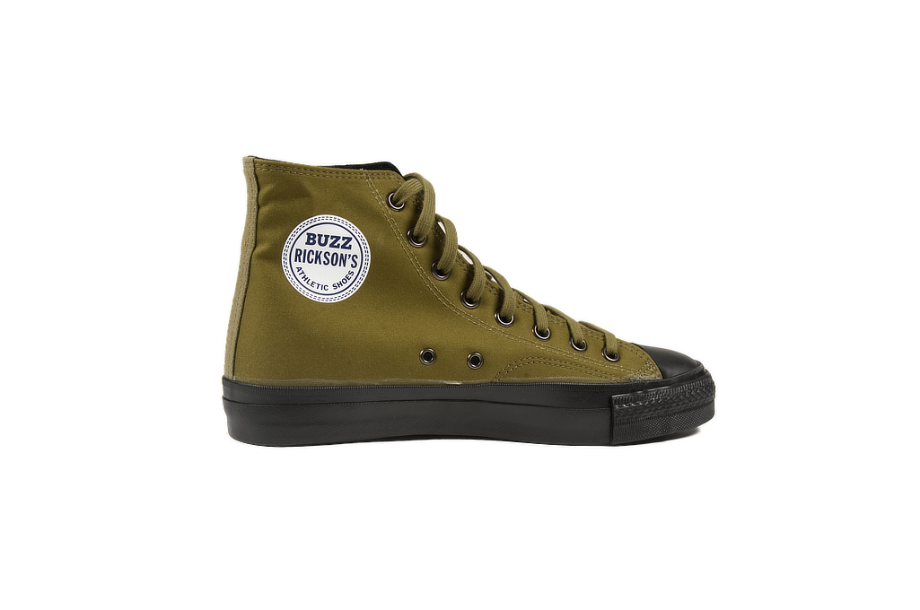 Buzz Rickson Ventile Water Resistant Sneakers - Olive - Image 5