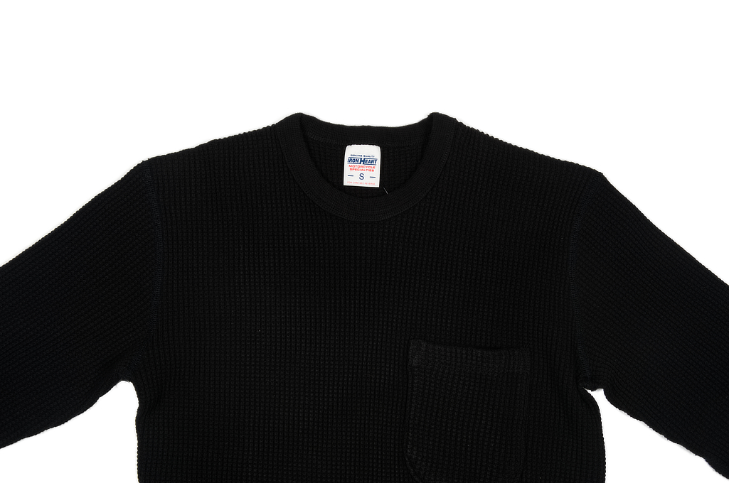 Iron Heart Long Sleeve Thermal - Black w/ Pocket - Image 3