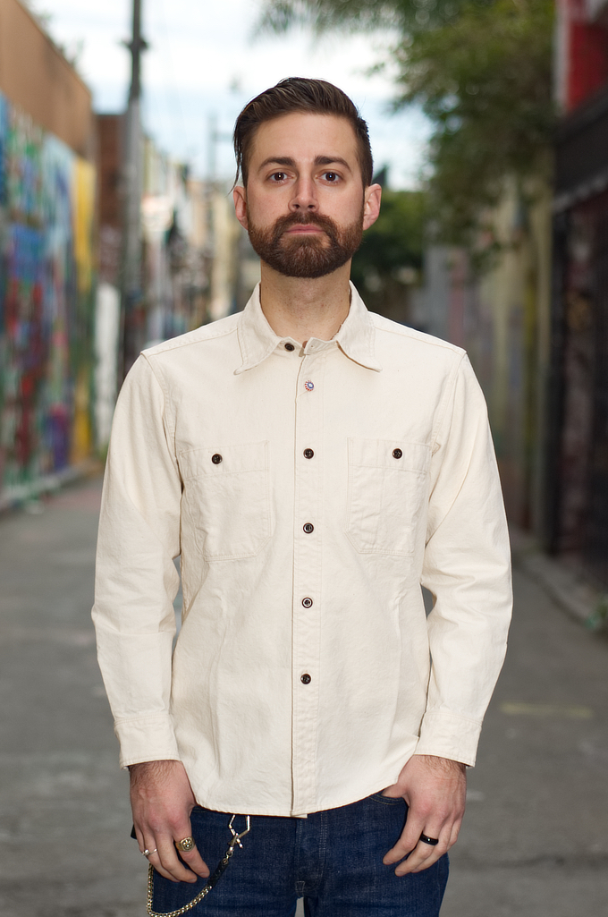 Seuvas 79A Canvas Workshirt - Natural - Image 0