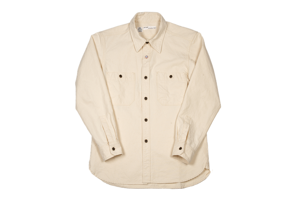 Seuvas 79A Canvas Workshirt - Natural - Image 2