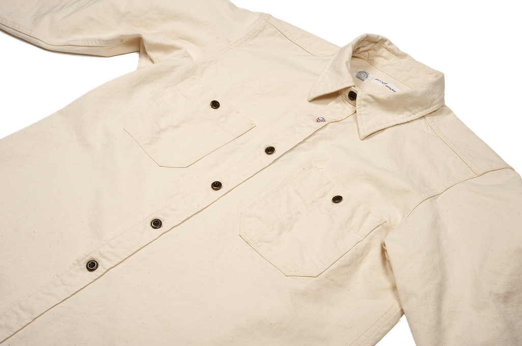 Seuvas 79A Canvas Workshirt - Natural - Image 5