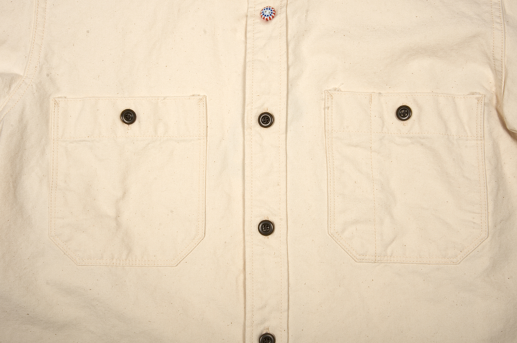 Seuvas 79A Canvas Workshirt - Natural - Image 6