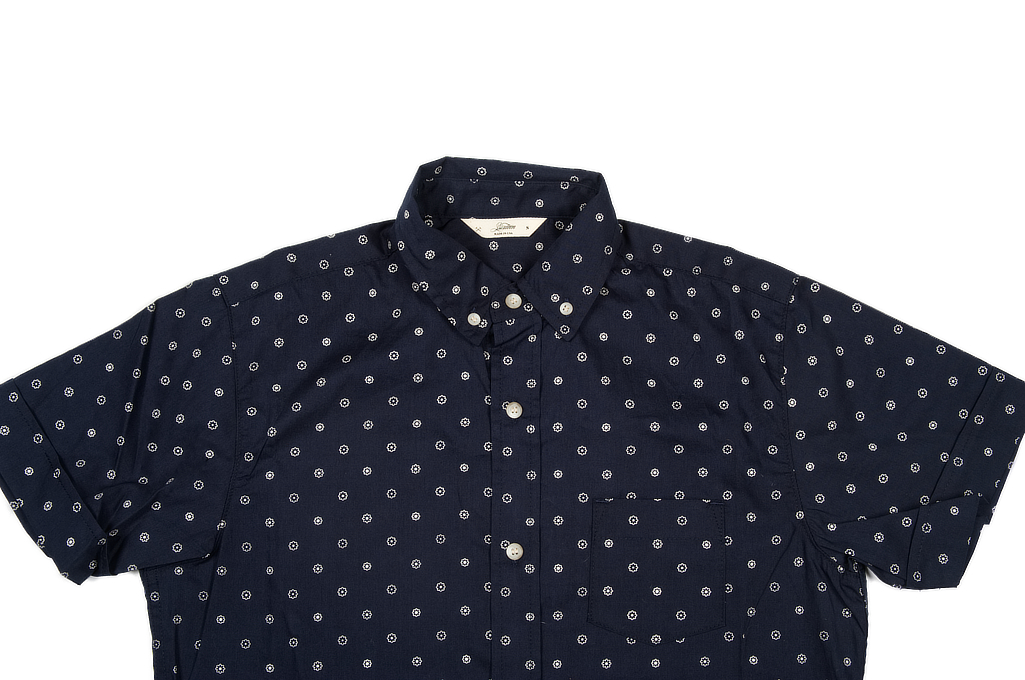 3sixteen Short Sleeve Button Down Shirt - Navy Floral - Image 3