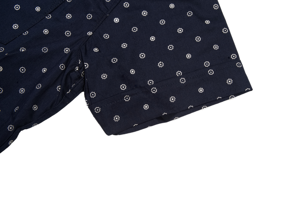 3sixteen Short Sleeve Button Down Shirt - Navy Floral - Image 6