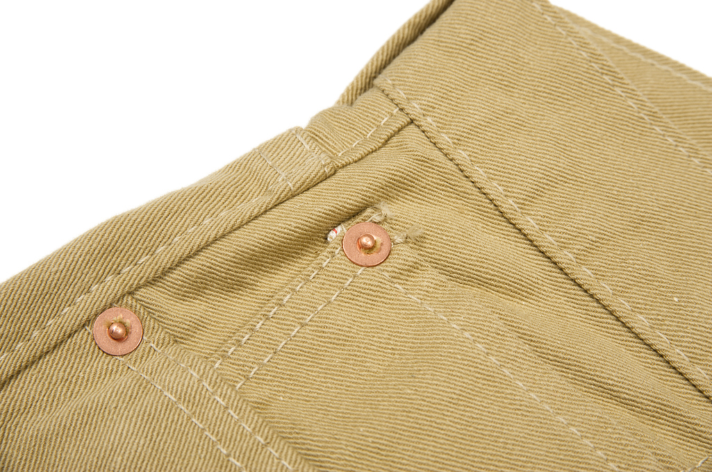 Pure Blue Japan Selvedge Twill Chinos - Beige - Image 4