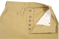 Pure Blue Japan Selvedge Twill Chinos - Beige - Image 9