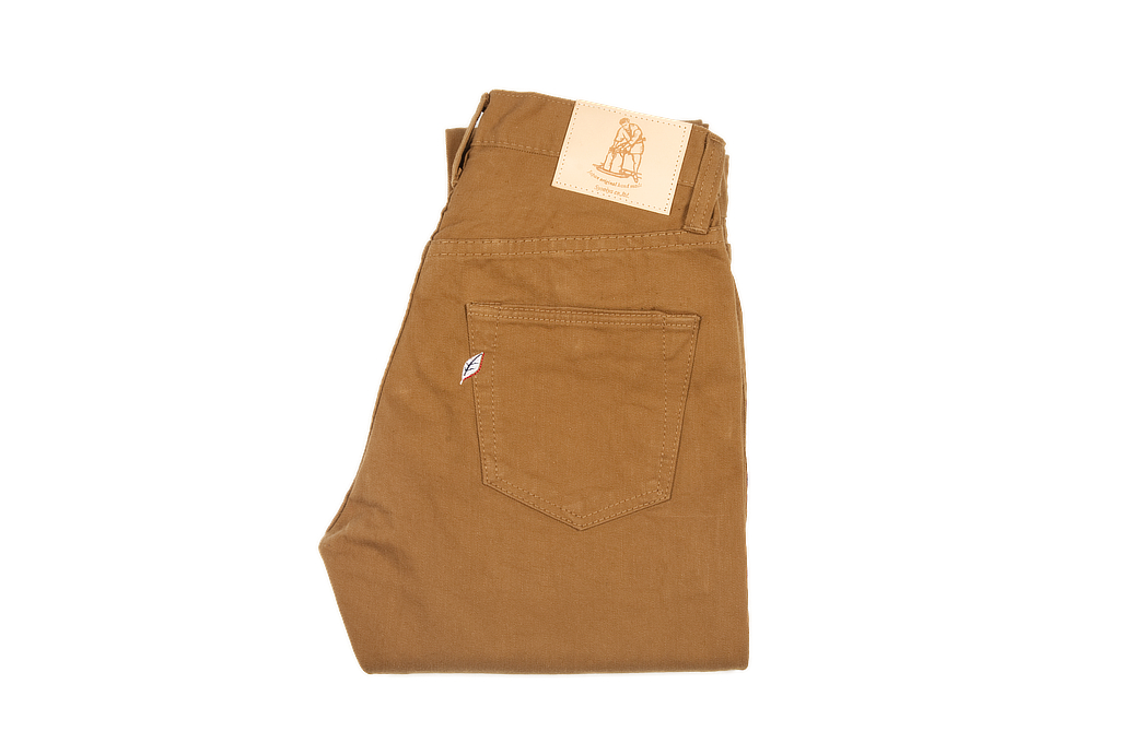 Pure Blue Japan Selvedge Twill Chinos - Dark Camel - Image 2