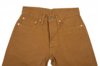 Pure Blue Japan Selvedge Twill Chinos - Dark Camel - Image 3