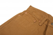 Pure Blue Japan Selvedge Twill Chinos - Dark Camel - Image 4
