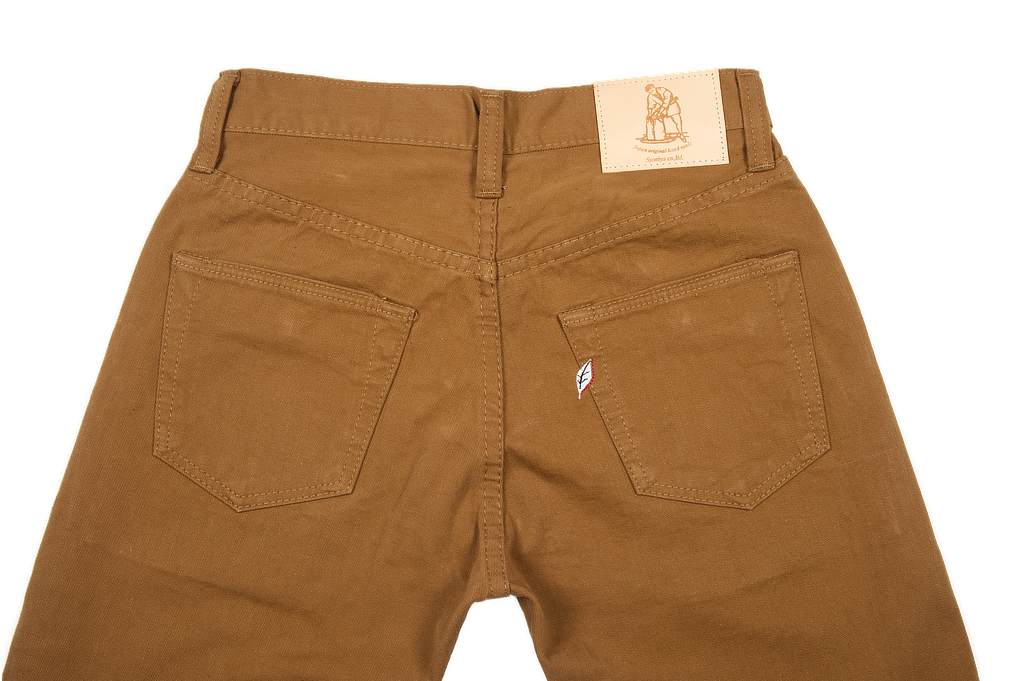 Pure Blue Japan Selvedge Twill Chinos - Dark Camel - Image 5