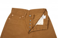 Pure Blue Japan Selvedge Twill Chinos - Dark Camel - Image 9