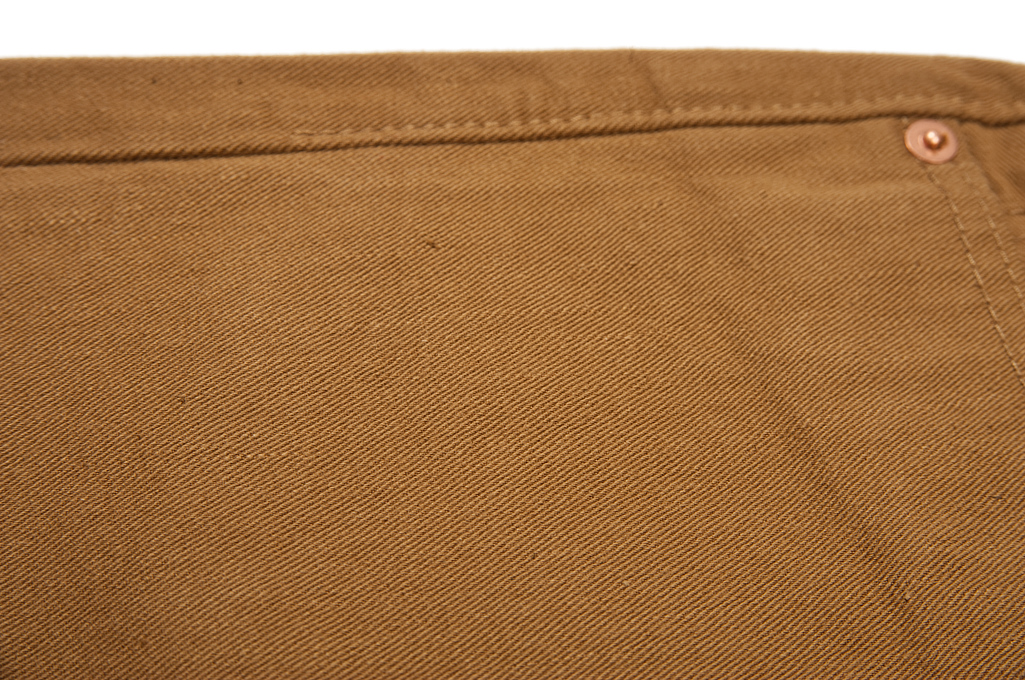 Pure Blue Japan Selvedge Twill Chinos - Dark Camel - Image 10