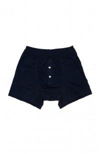 Merz B. Schwanen Loopwheeled Boxer Brief Underwear - Ink Blue - Image 0