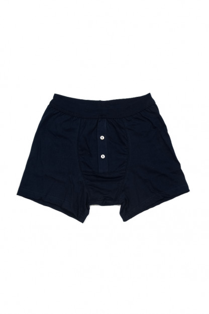 Merz B. Schwanen Loopwheeled Boxer Brief Underwear - Ink Blue