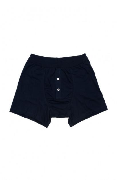 Merz B. Schwanen Loopwheeled Boxer Brief Underwear - Ink Blue