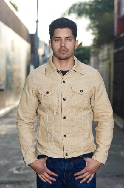 Iron Heart Corduroy Modified Type III Jacket - Ivory