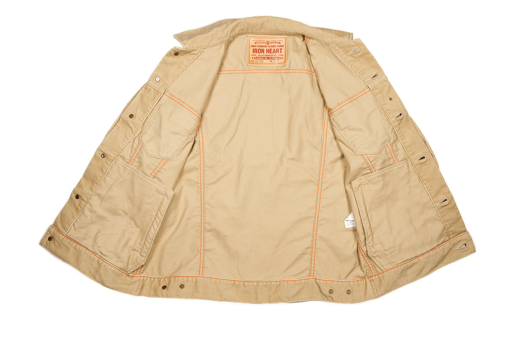 Iron Heart Corduroy Modified Type III Jacket - Ivory - Image 8