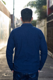 3sixteen Fatigue Over Shirt - Navy Slub Linen - Image 1