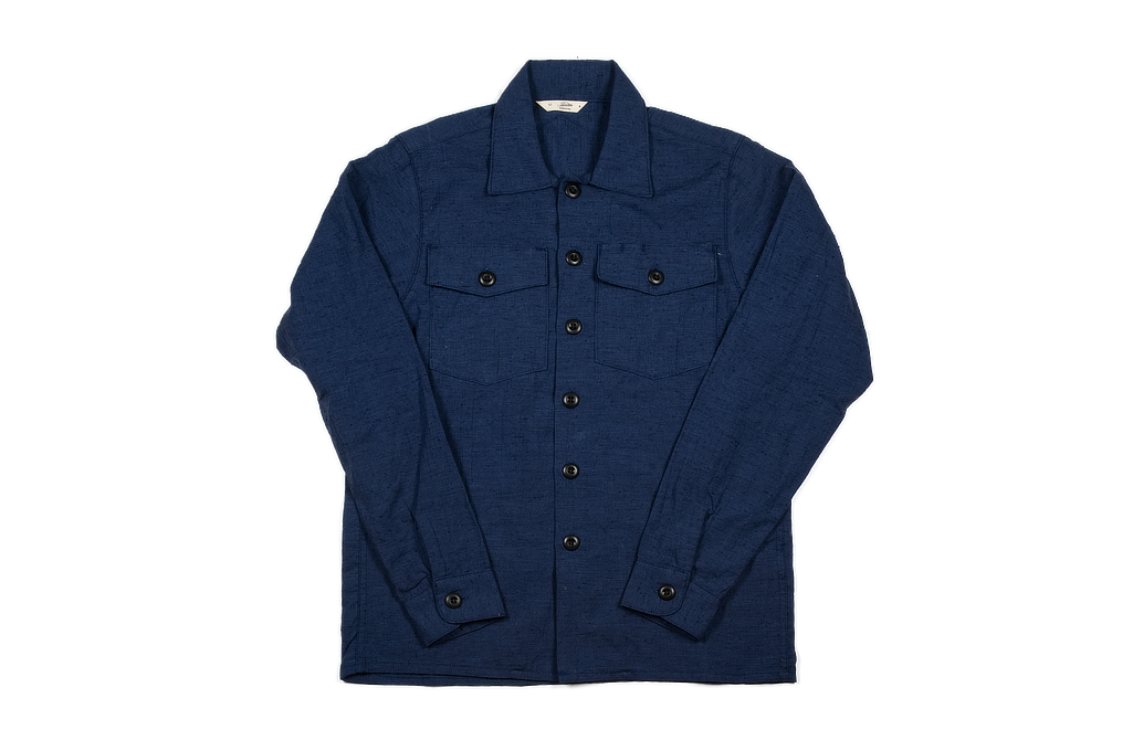 3sixteen Fatigue Over Shirt - Navy Slub Linen - Image 2
