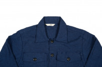 3sixteen Fatigue Over Shirt - Navy Slub Linen - Image 3