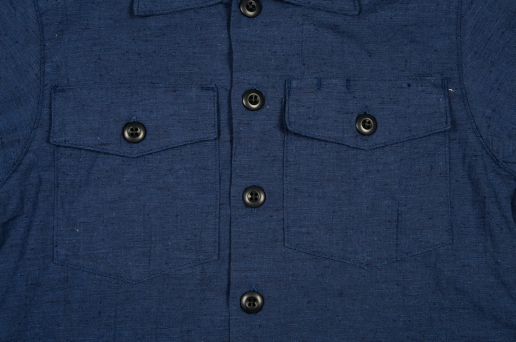 3sixteen Fatigue Over Shirt - Navy Slub Linen - Image 4