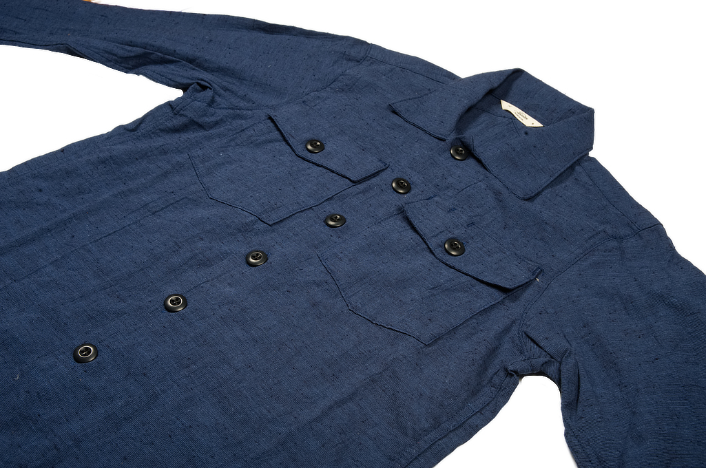 3sixteen Fatigue Over Shirt - Navy Slub Linen - Image 5