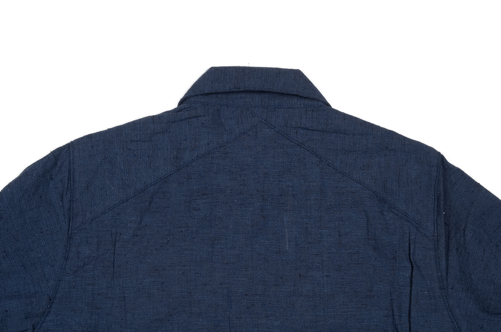3sixteen Fatigue Over Shirt - Navy Slub Linen - Image 6