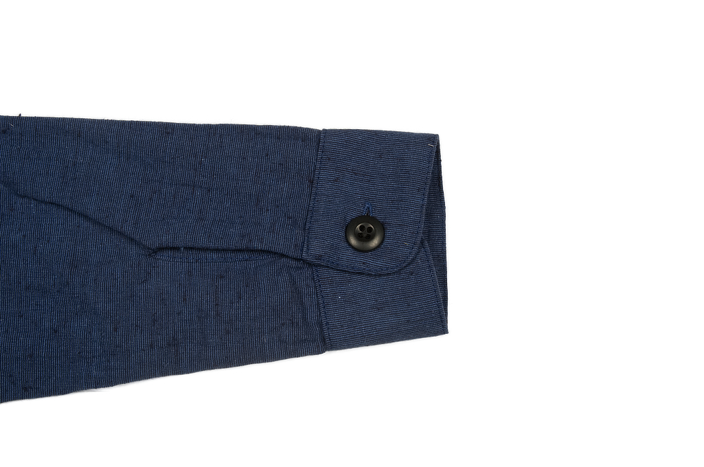 3sixteen Fatigue Over Shirt - Navy Slub Linen - Image 7