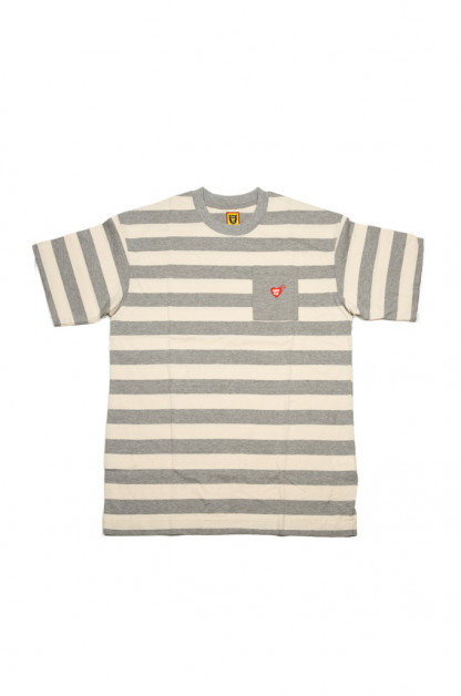 3363f0fda984 Human Made Border Stripe Pocket T-Shirt