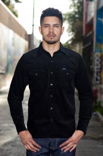 Iron Heart Selvedge Corduroy Snap Shirt - Black - Image 0