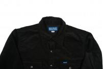 Iron Heart Selvedge Corduroy Snap Shirt - Black - Image 3