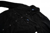 Iron Heart Selvedge Corduroy Snap Shirt - Black - Image 5