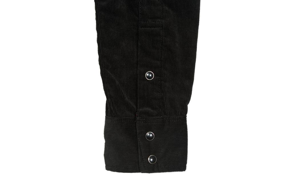 Iron Heart Selvedge Corduroy Snap Shirt - Black - Image 7