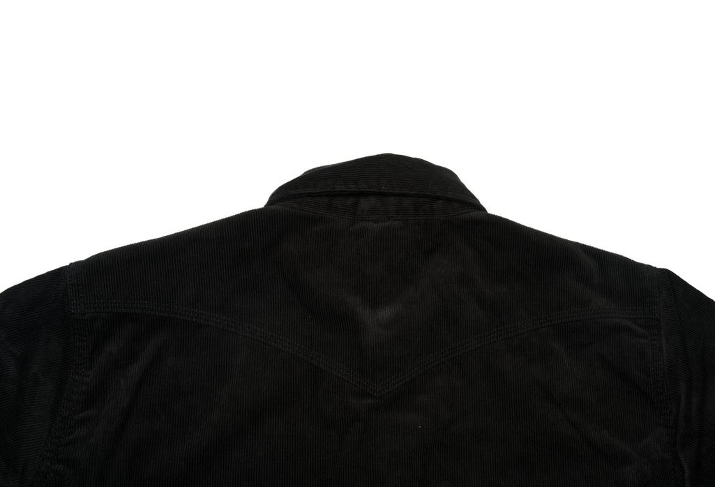 Iron Heart Selvedge Corduroy Snap Shirt - Black - Image 8