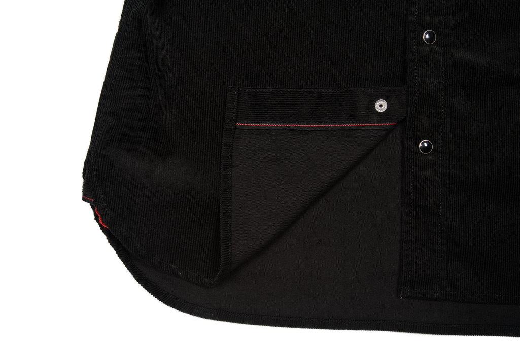 Iron Heart Selvedge Corduroy Snap Shirt - Black - Image 9