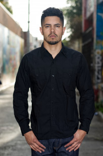 Mister Freedom Dude Rancher Shirt - Black Poplin - Image 0