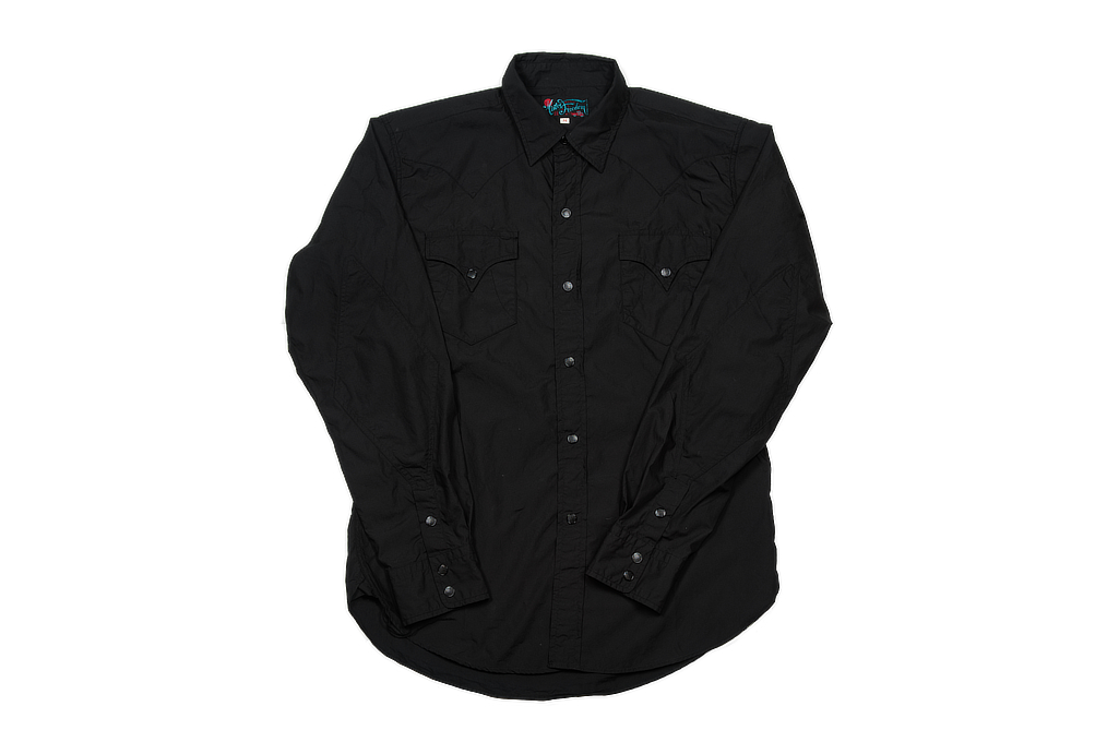 Mister Freedom Dude Rancher Shirt - Black Poplin - Image 2