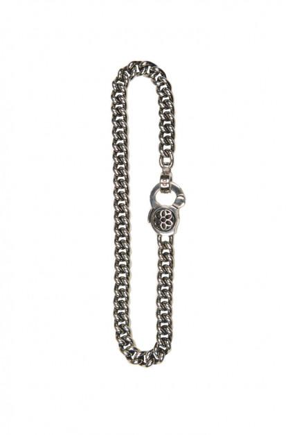 Good Art #3 Curb Chain Bracelet w/ Rosette Clip