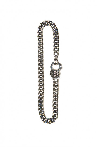 Good Art #3 Curb Chain Bracelet w/ Rosette Clip
